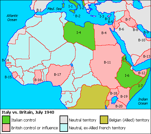 Map of the Med and Africa