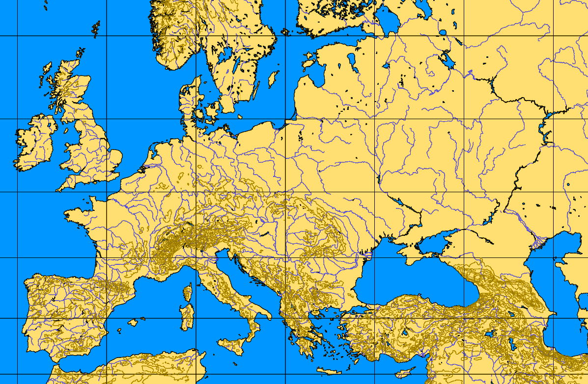Latitude Map Of Europe.Classic Europa Designer S Notes For Europa In General